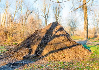 Stort muldvarpeskud fra kæmpe muldvarpen